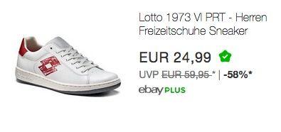 T0011 weiß//rot Herren Freizeitschuhe Sneaker Turnschuhe Lotto 1973 VI PRT