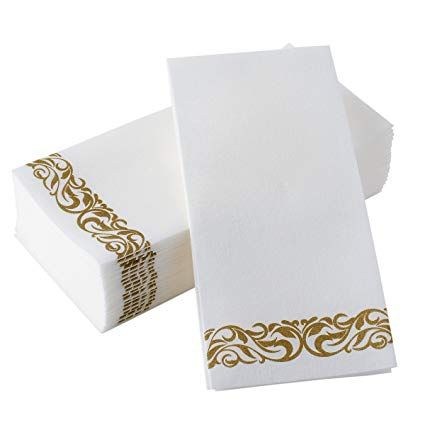 Bloomingoods Disposable Hand Towels Decorative Bathroom Napkins Soft And Absorbent Linen Feel Pap Disposable Hand Towels Guest Hand Towels Bathroom Napkins