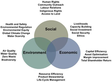 Examples of Social, Economic, and Environmental resources affected - define business investment