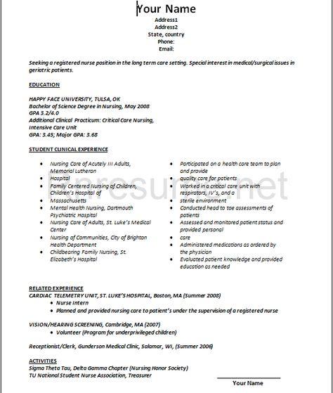 Nursing Student Resume | Creative Resume Design Templates Word ...