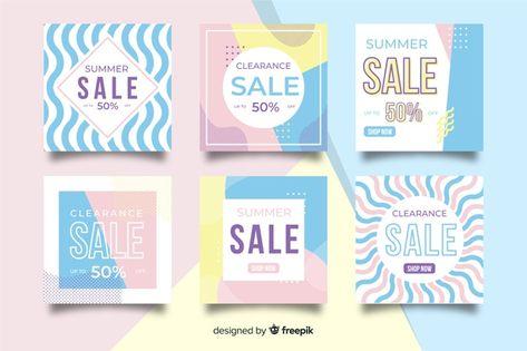 Fashion sales social media banner collectio