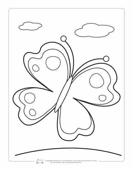 Spring Coloring Pages For Kids Butterfly Coloring Page Spring