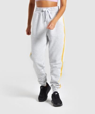Womens Oversized Boyfriend Fit Elasticated Fleece Jogger Bottoms Casual Pants