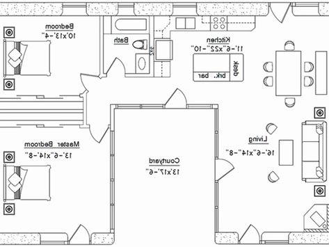 U Shaped House Plans With Courtyard Inspirational 15 Elegant C