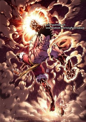 Luffy Gear 4 Snakeman From One Piece By Marvelmania One Piece Drawing One Piece Images One Piece Anime