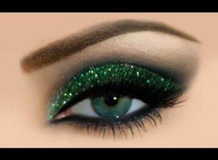 Best Eye Makeup Green Glitter Make Up 58 Ideas Glitter Eyeshadow Tutorial Glitter Eye Makeup Eye Makeup Tutorial