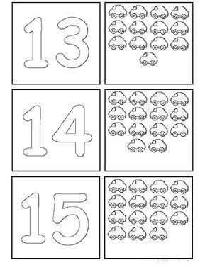 Atividade Com Numerais Ate 20 Jogo Da Memoria Com Numerais Para