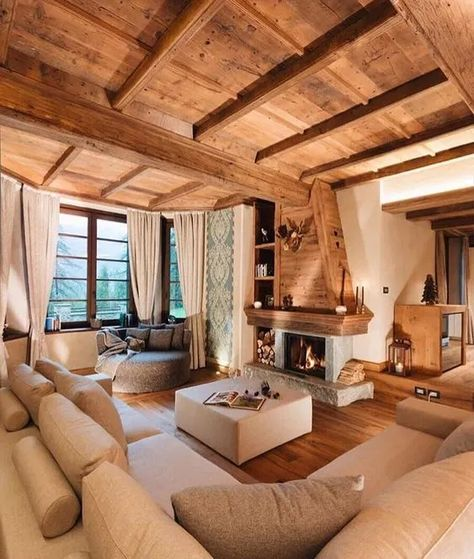 Cabin Homes, Space Design, Rustic House, House Design, Home And Living, Living Decor, House Interior, Room Design, Beautiful Room Designs