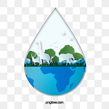 Water Element For World Water Day Festival Tree Water Put Up Png Transparent Clipart Image And Psd File For Free Download World Water Day World Water Water Element