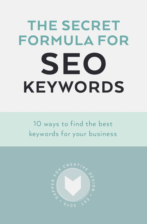 The Secret Formula for SEO Keywords - 10 Ways To Find The Best Keywords For Your Business — Dapper Fox Design - Branding + Website Design