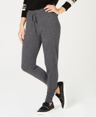 2019 Womens Designer Inspried Luxury Cashmere and Wool CROP Trousers Joggers