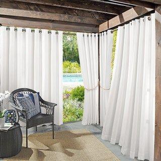 Sun Zero 1 Panel Uv Blocking Reed Indoor Outdoor Woven Curtain Indoor Outdoor Curtains Outdoor Curtain Panels Outdoor Curtains