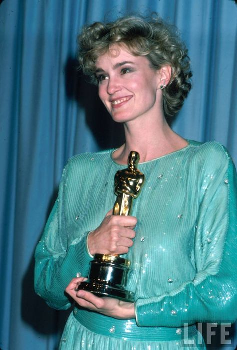 """2/04/2014 10:03pm The Academy Awards Ceremony 1983:: Best Supporting Actress Oscar Jessica Lange for """"Tootsie"""" 1982."""