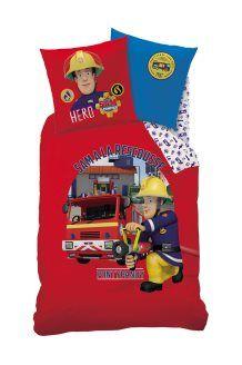 parure de couette en coton sam le pompier fire rouge - Fauteuil Mickey