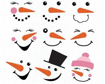 47++ Printable snowman face clipart ideas