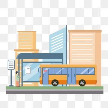 런던 버스 수채화 벡터 City Cartoon Bus Cartoon Bus Stop Sign