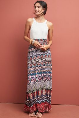 wholesale online shop for original amazing selection Farm Rio Mixed-Print Maxi Skirt by in Assorted Size: Xs ...