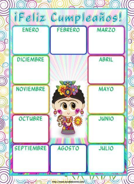 Calendario Agenda 2020 Para Imprimir.Agenda Escolar 2018 2019 Para Imprimir De Frida K