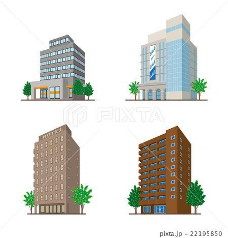 建物 立体図形 イラスト 建物 フリー画像