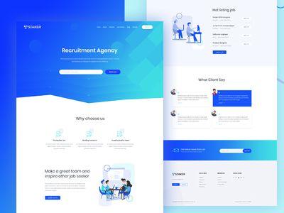 Agency Recruitment Landing Page Recruitment Website Design Agency Website Recruitment Agencies