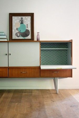 Colored Sideboard | Mid Century Modern