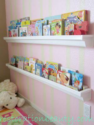 Rain Gutter Book Shelves Diy Home Decor Project Cheap And Easy