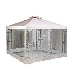 Riplock Universal 10 X 10 Two Tiered Replacement Gazebo Canopy And Mosquito Netting Set Gazebo Canopy Replacement Canopy Gazebo Replacement Canopy