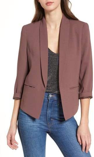 Fensajomon Womens Fashion Lapel Open Front Cardigan Blazer Jacket Coat