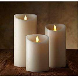 Luminara Flameless Candle Set Of 3pcs 3 5 Inch By 5 7 9 Inch