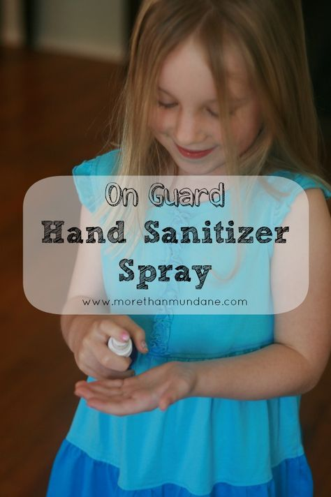 Make your own hand sanitizer spray using just 3 ingredients! | www.morethanmundane.com
