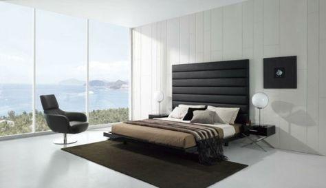 luxus schlafzimmer beige braun akzentwand stoffplatten - einrichten naturtonen beispiele modern