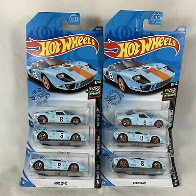 Lot Of 6 Hot Wheels 2020 Ford Gt 40 Gulf Racing Blue Car 35 250 Hw