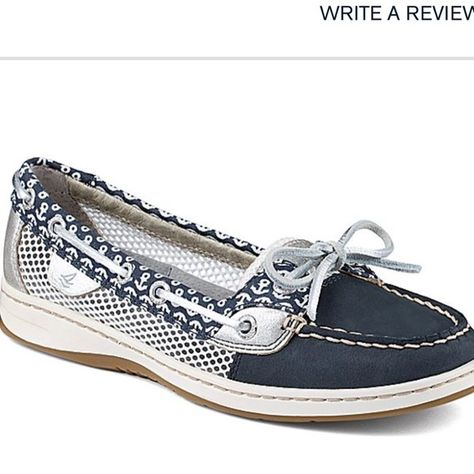 Brand new sperry  angelfish/ navy anchor size 5.5 Brand new without box size 5.5 Sperry Top-Sider Shoes Athletic Shoes