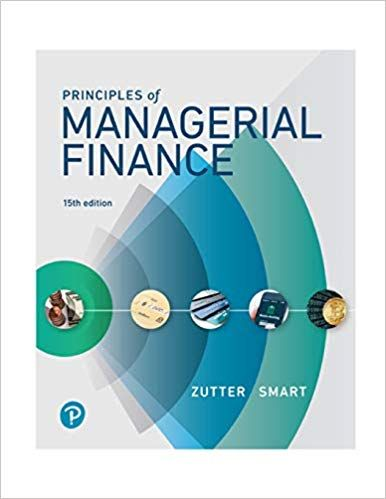 Principles Of Managerial Finance 15th Edition Finance The Learning Experience Textbook