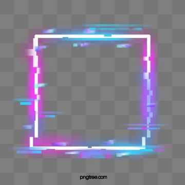Fault Neon Border Element Troubleshooting Wind Glitch Square