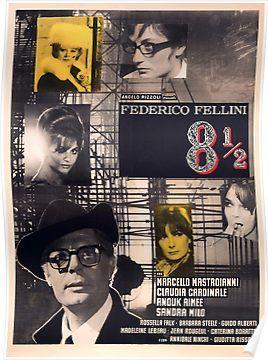 Otto E Mezzo 8 1 2 Hq Quality Movie Posters Movie Posters Vintage Film Posters Vintage