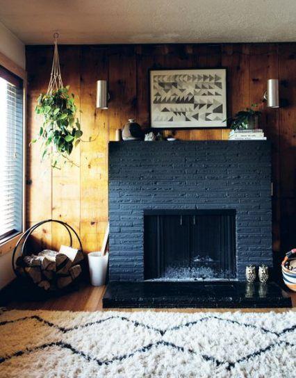 52 Trendy House Black Brick Spaces Painted Brick Fireplaces Black Brick Fireplace Painted Brick Fireplace