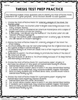 50 Thesis Statement Practice Worksheet In 2020 Thesis Statement