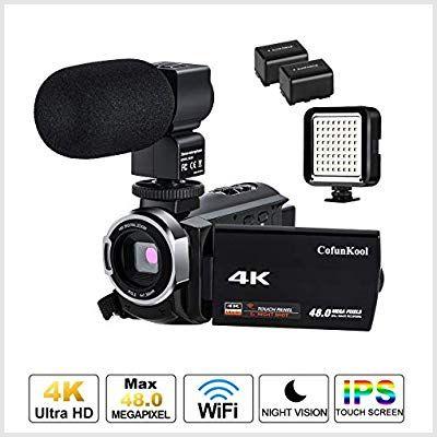 Camcorder Cofunkool External Microphone Batteries Photo 200