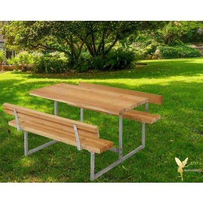 Woodinis Kinder Sitzgarnitur Junior Larche Mit Ruckenlehnen Sitzgarnitur Gartenmobel Sets Kinder Garten