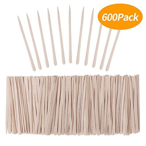Senkary 600 Pieces Wooden Waxing Sticks Wax Sticks Wax Applicator