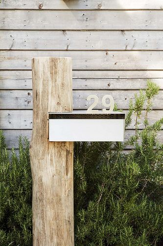 Merbau timer with grey letter box ? & Weathered steel for custom mailboxes serving modern homes. This ... Aboutintivar.Com