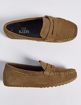 Kids' Suede Driving Shoes (13 Small - 7