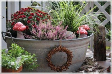 Bildergebnis Fur Zinkwanne Bepflanzen Zinkwanne Bepflanzen Pflanzideen Topf Und Kubelpflanzen