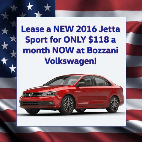 You can lease a NEW 2016 #JettaSport for only $118 a month RIGHT - month to month lease