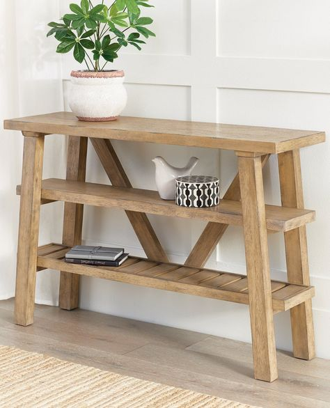 Join the modern farmhouse movement and increase your storage and display space simultaneously with our slim Teagan console table. Just 14 deep, so great for hallways, behind a sofa, or in an entry. So many ways and places to use it.