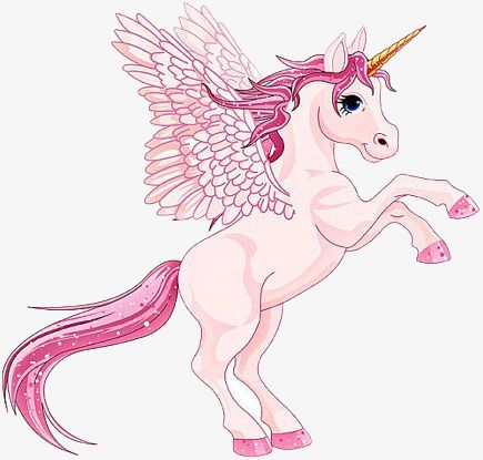 Pink Cartoon Unicorn With Wings Png And Clipart Unicorn Images