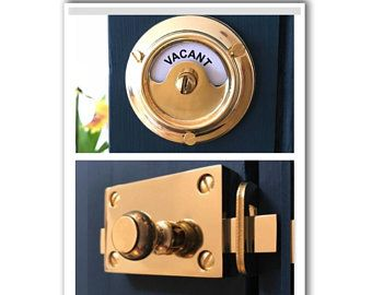 Vacant Engaged Brass Lock Bolt Indicator Bathroom Toilet Door Beehive Handles Occupied Washroom Restroom Lavatory Room Changing Cubicle Loo In 2020 Bathroom Toilets Toilet Door Doors