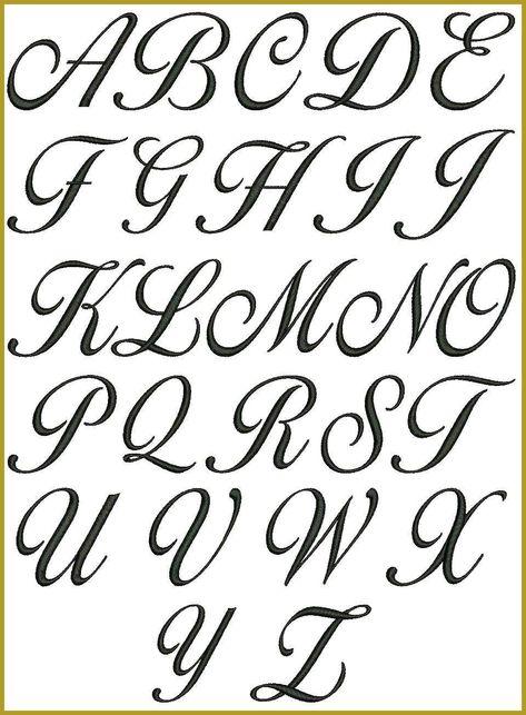 Nr 120 Lara Script 3 Buchstaben Monogramm Maschine Stickmotive 1