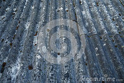 A Heavily Aged And Weathered Asbestos Cement Corrugated Roofing Met Afbeeldingen